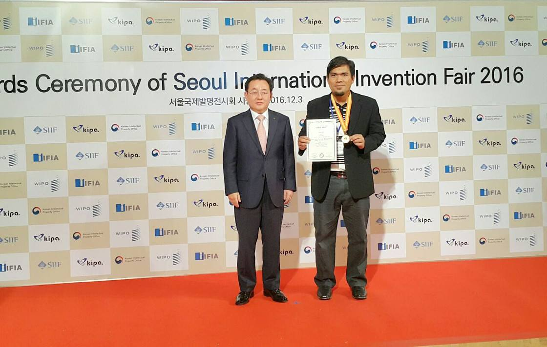 Emas di Seoul International Invention Fair 2016