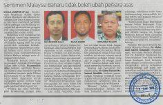 UTUSAN MALAYSIA  I  28 JUN 2018  ~ SENTIMEN BAHARU TIDAK BOLEH UBAH PERKARA ASAS