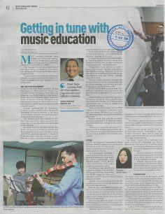 NEW STRAITS TIMES   I    8 OGOS 2018     I      GETTING IN TUNE WITH MUSIC EDUCATION