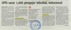 BERITA HARIAN    I   3 NOVEMBER 2018   I   UPSI SASAR 1000 PENGAJAR TEKNIKAL, VOKASIONAL