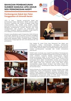 """Sesi Perkongsian Bersama Timbalan Pengarah AKEPT """" Pembangunan Bakat Dan Pelan Penggantian Di Universiti Awam"""" Anjuran BPSM"""